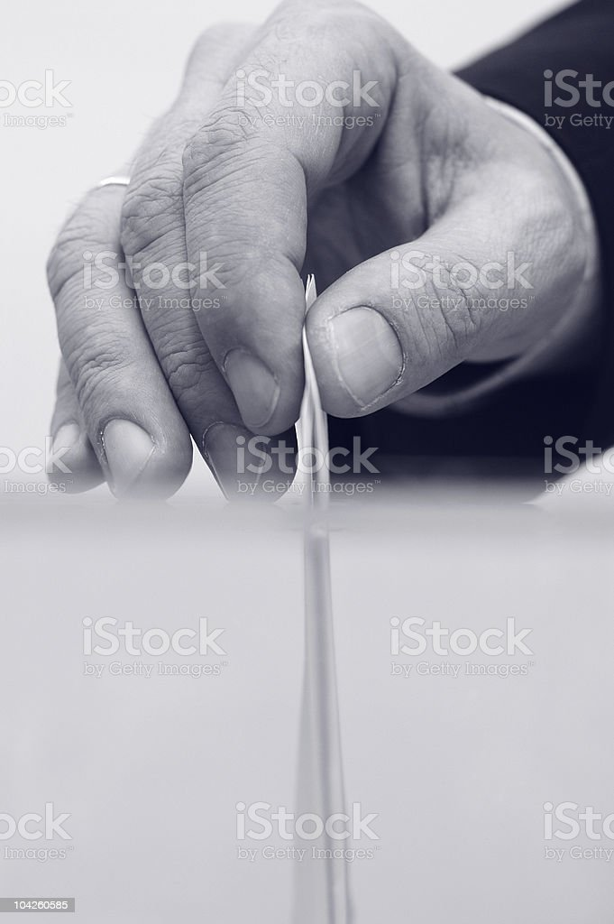It's time for elections stock photo