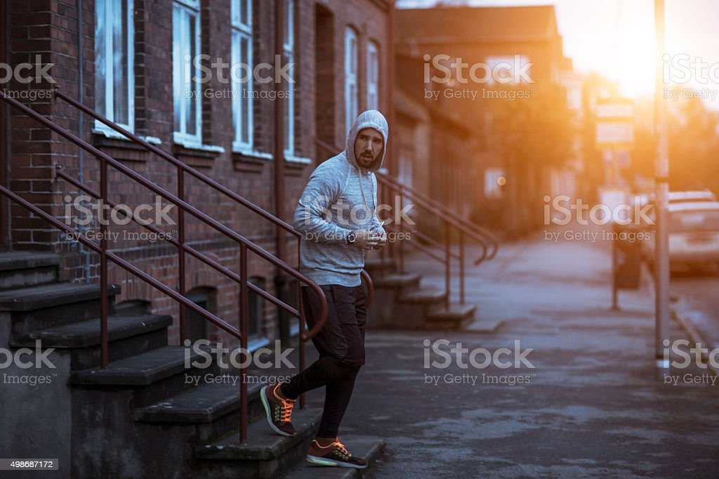 It's time for running stock photo