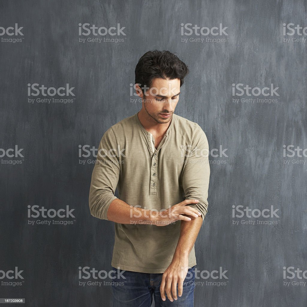 It's time to roll up your sleeves stock photo