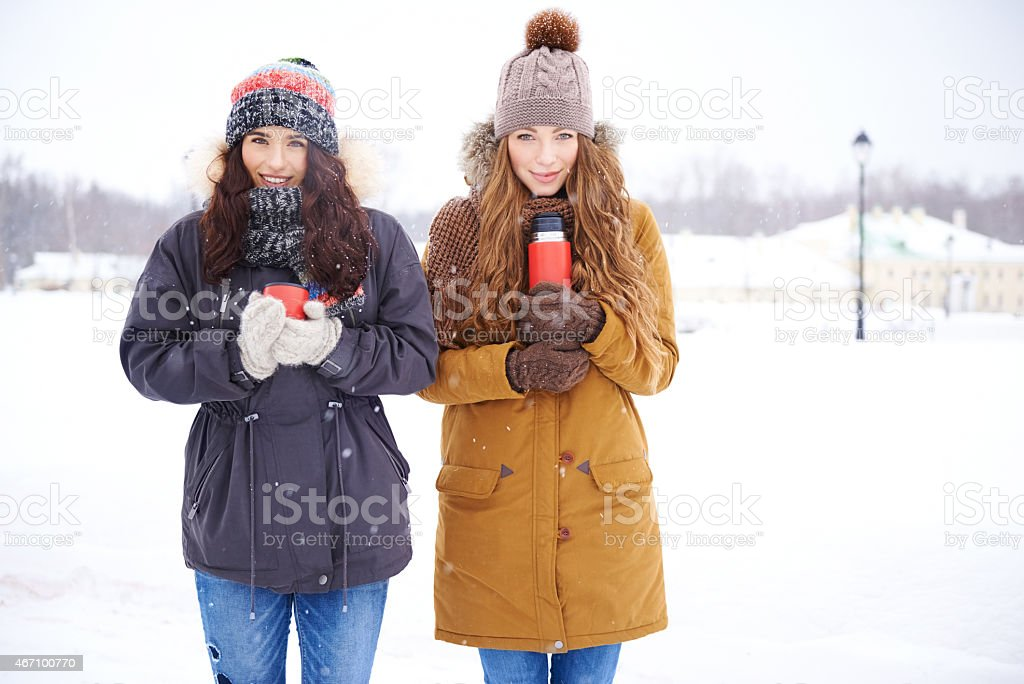 It's warmer than it looks! stock photo