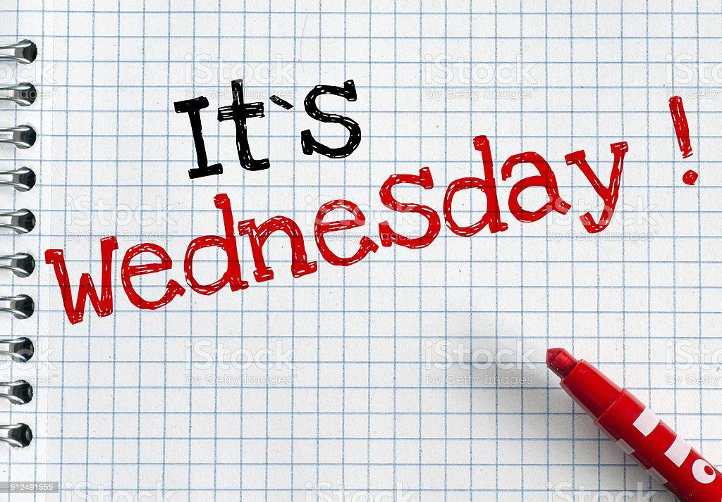 Its Wednesday stock photo