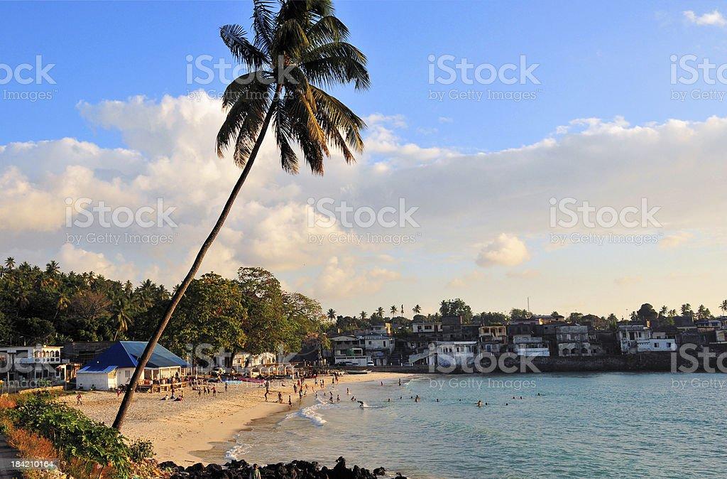 Itsandra, Comoros islands: beach stock photo