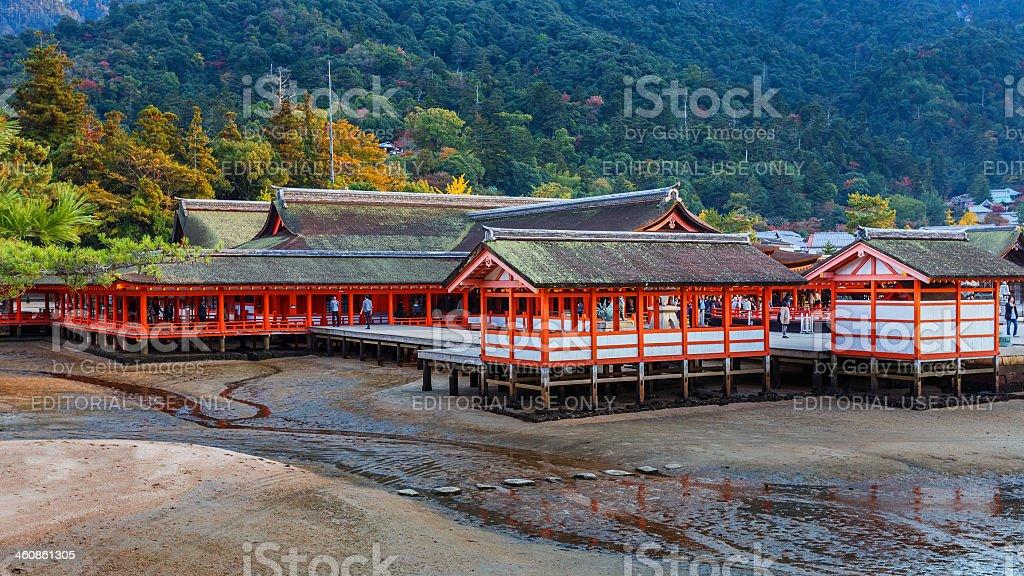 Itsukushima Jinja in Miyajima stock photo