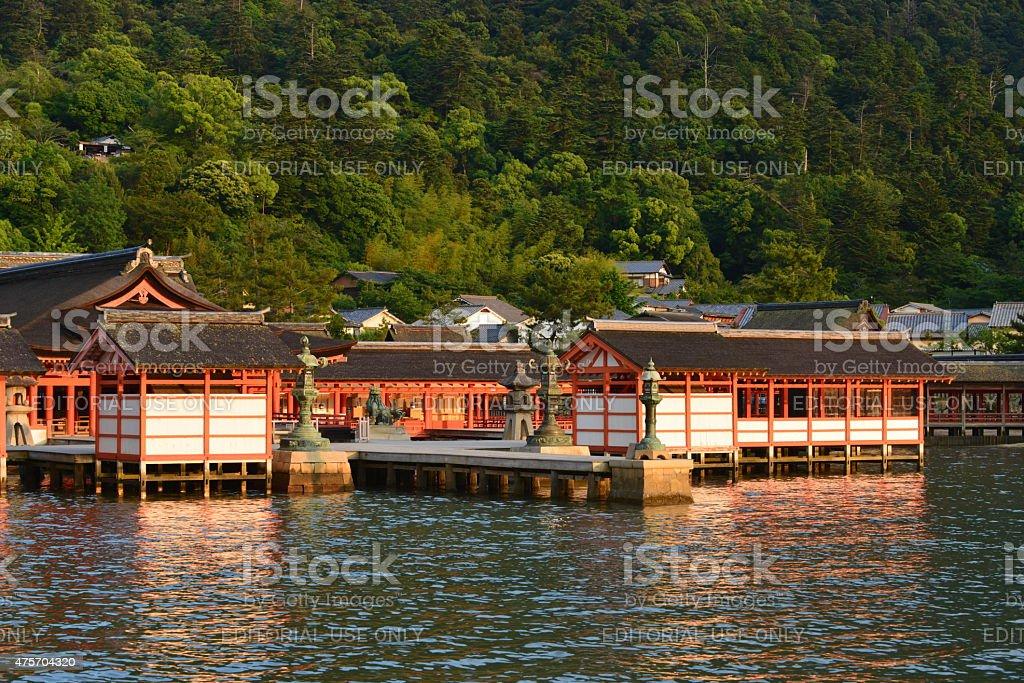 Itsukushima Shrine, Hatsukaichi, Hiroshima stock photo
