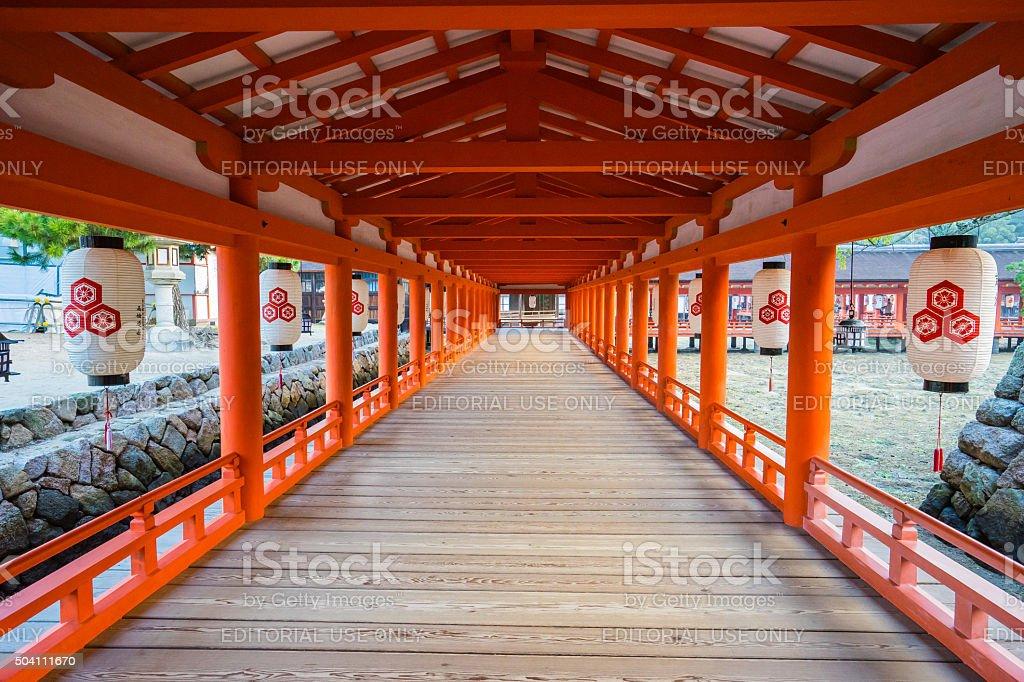 Itsukushima Shrine in Miyajima, Japan. stock photo
