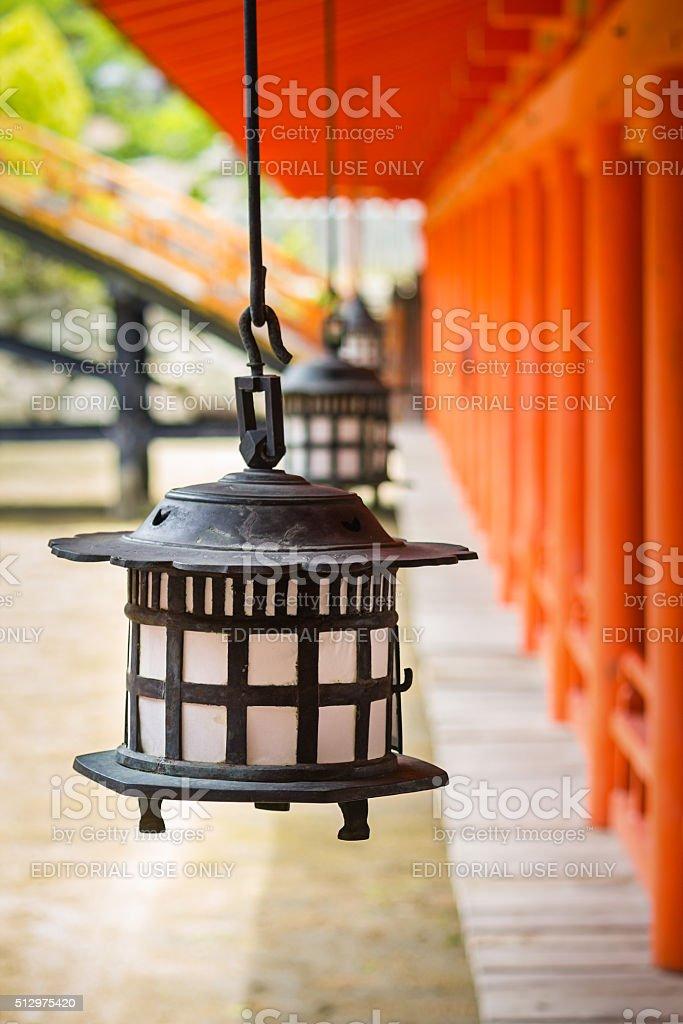 Itsukushima Shrine Miyajima Island Japan stock photo