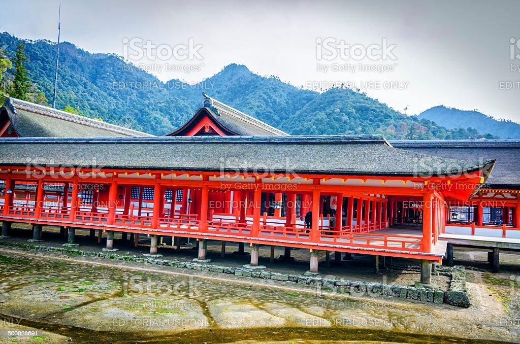 Itsukushima Shrine - Miyajima , Japan royalty-free stock photo