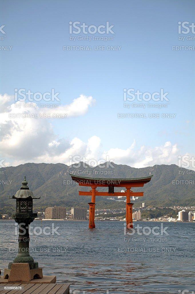 Itsukushima Shrine, Miyajima, Japan stock photo