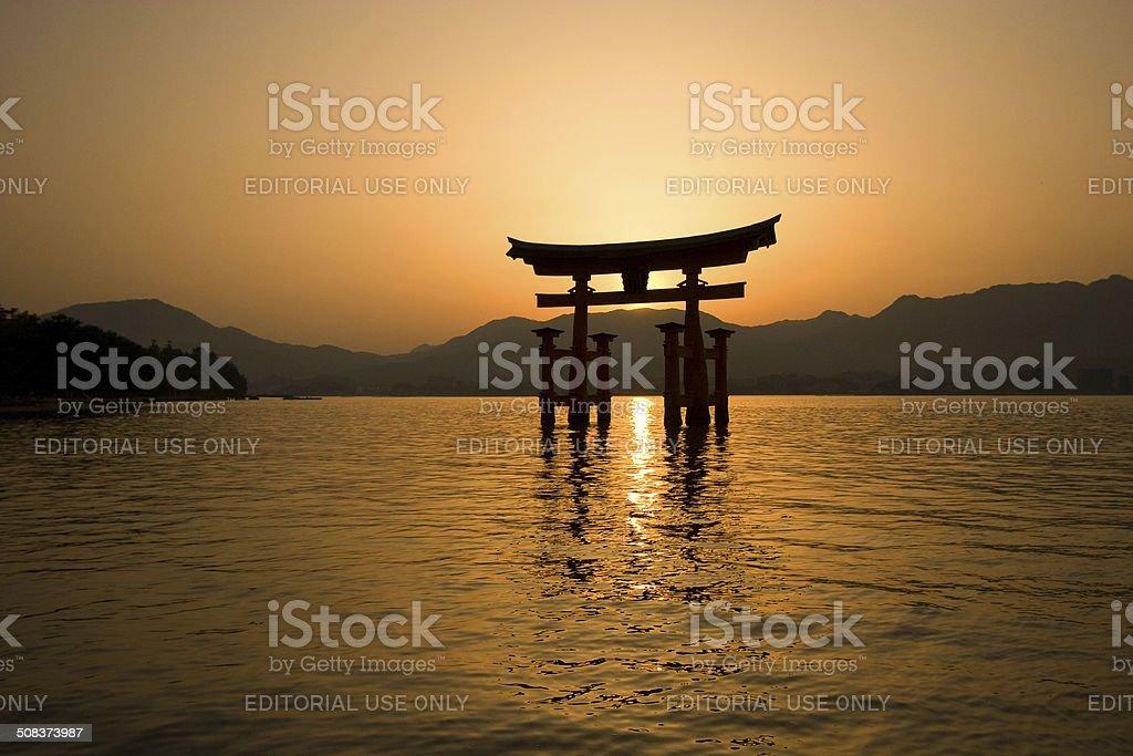 Itsukushima Torii Gate stock photo