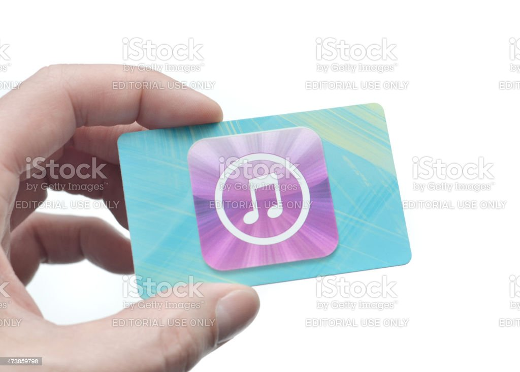 iTunes Gift Card stock photo