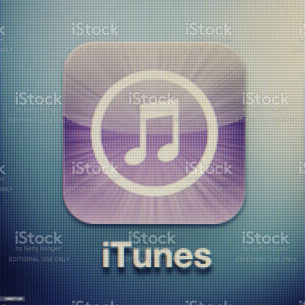 iTunes royalty-free stock photo