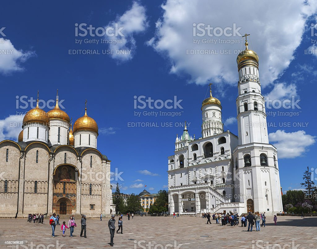 Ivan the Great Bell Tower at Moscow Kremlin stock photo