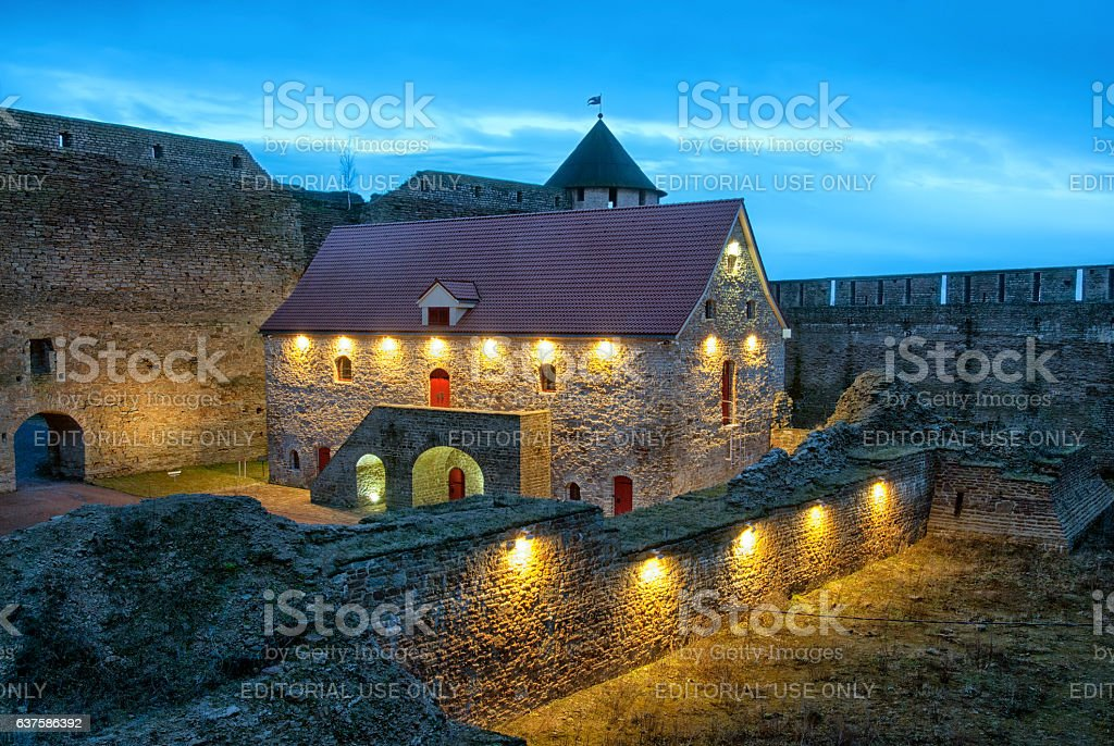 Ivangorod. Russia. Museum in medieval fortress stock photo
