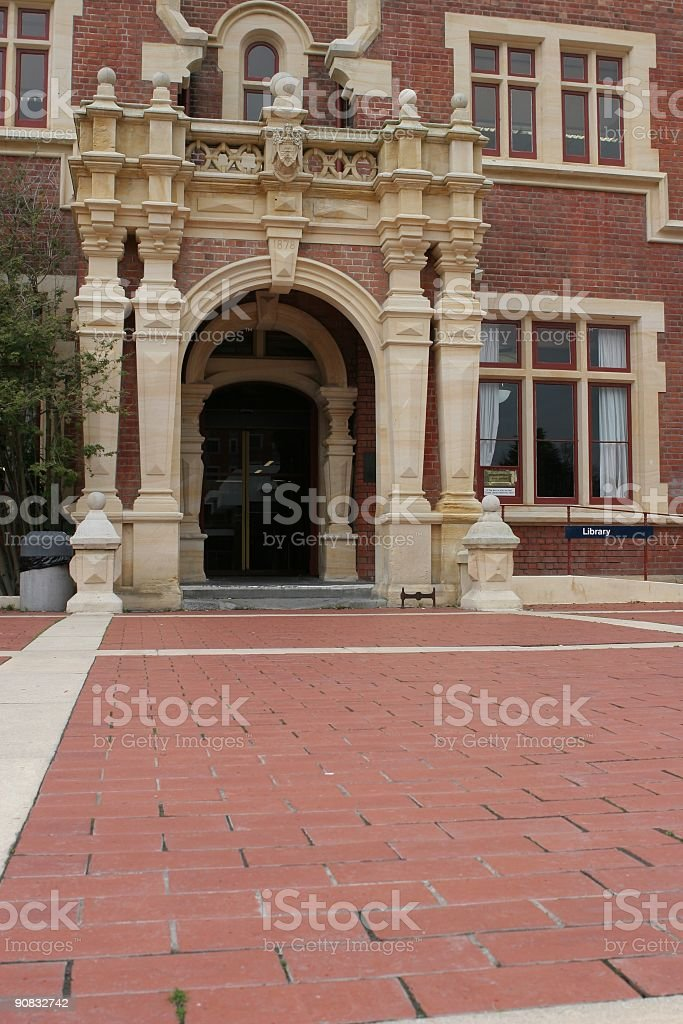 Ivey Hall entry stock photo