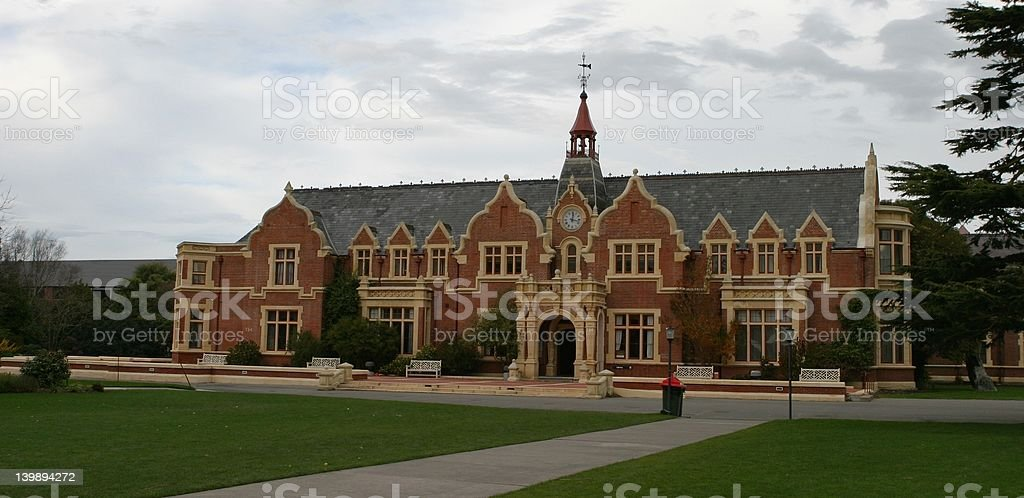 Ivey Hall, Lincoln University, New Zealand. stock photo