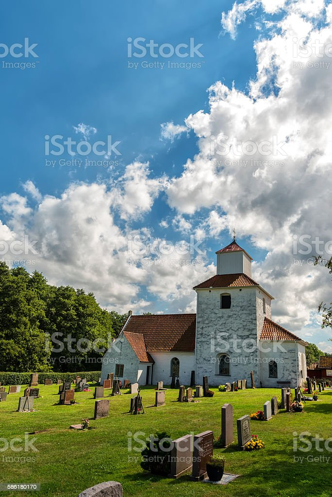 Ivo Church in Sweden stock photo