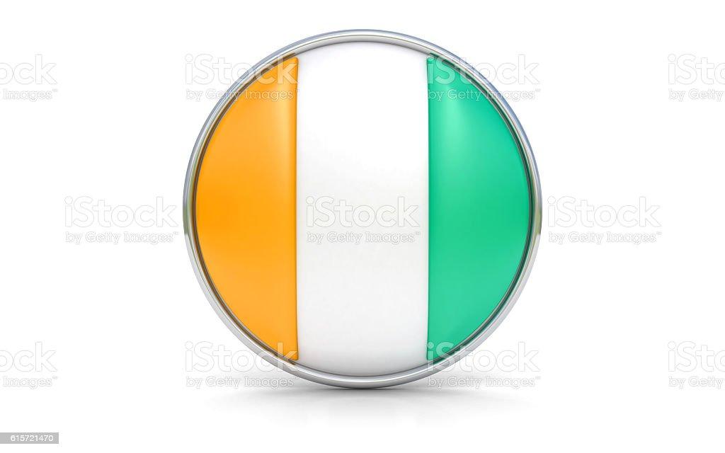 Ivorian flag stock photo