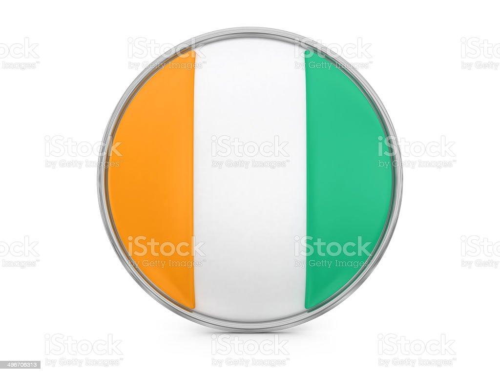Ivory Coast flag royalty-free stock photo
