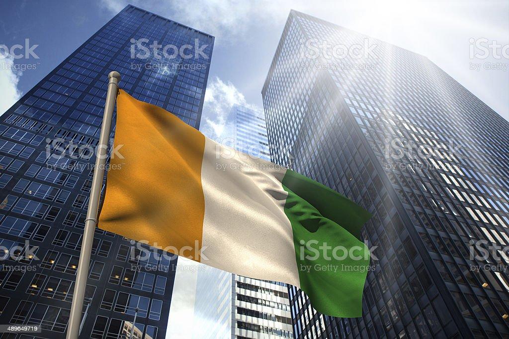 Ivory coast national flag stock photo
