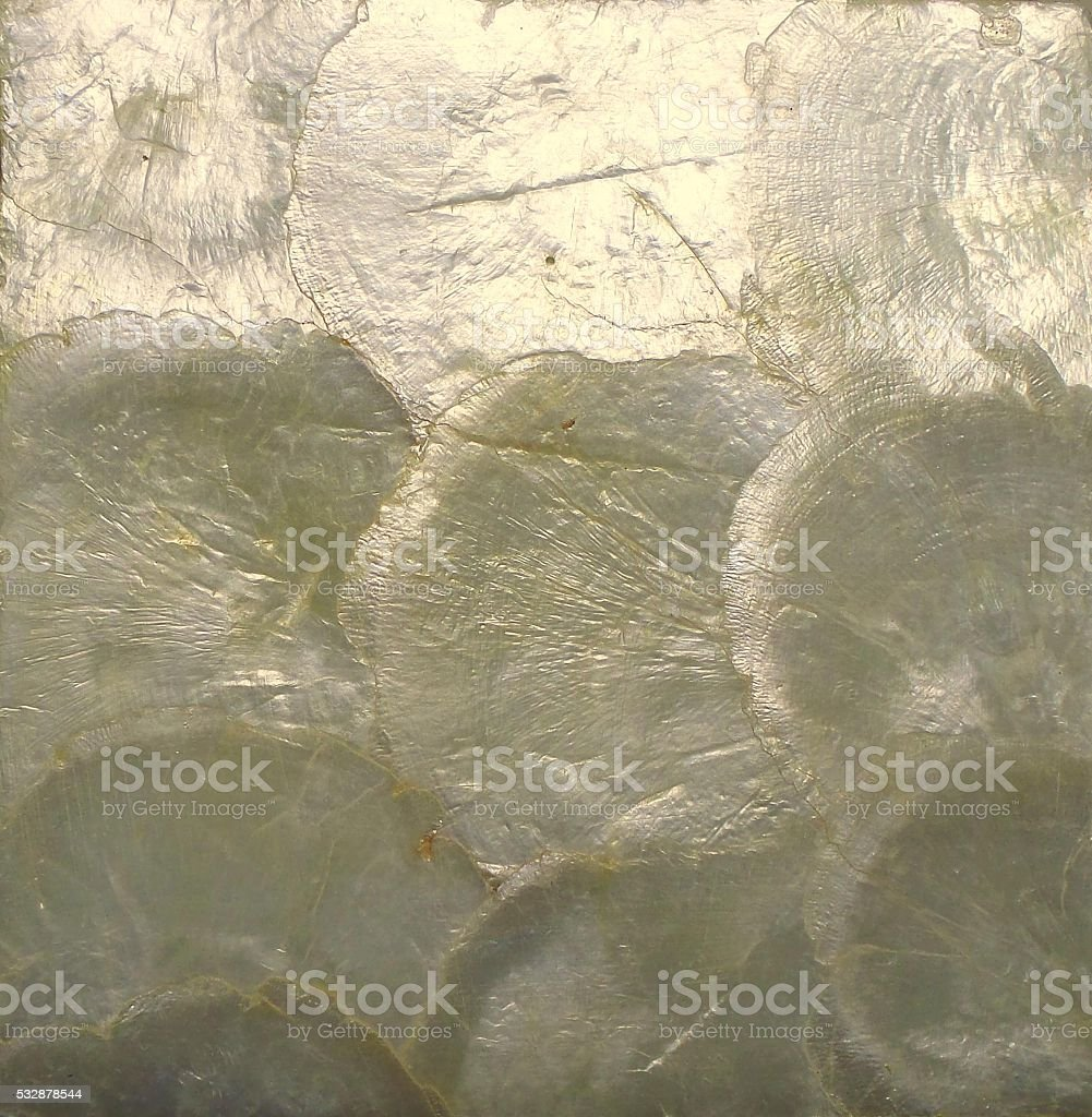 Ivory Color Mother of Pearl Texture Background stock photo