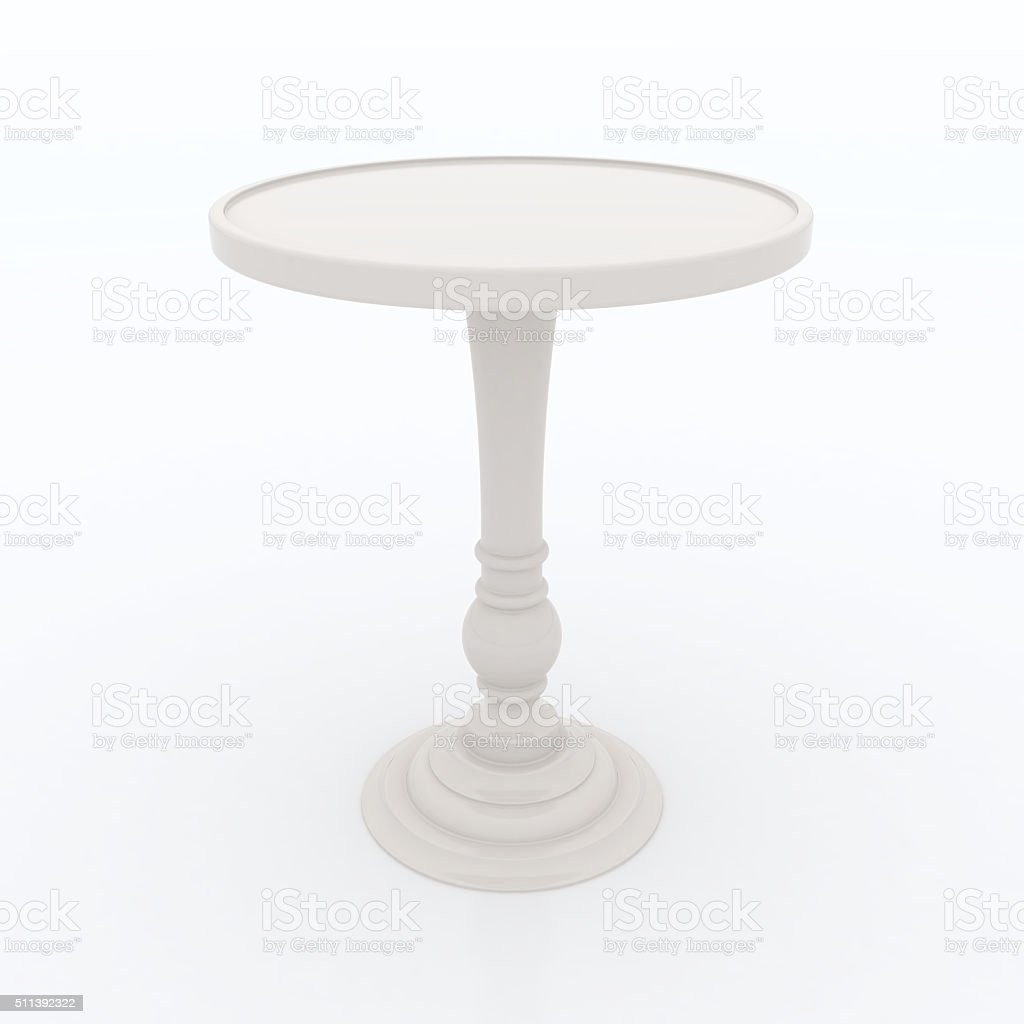 ivory high top table stock photo