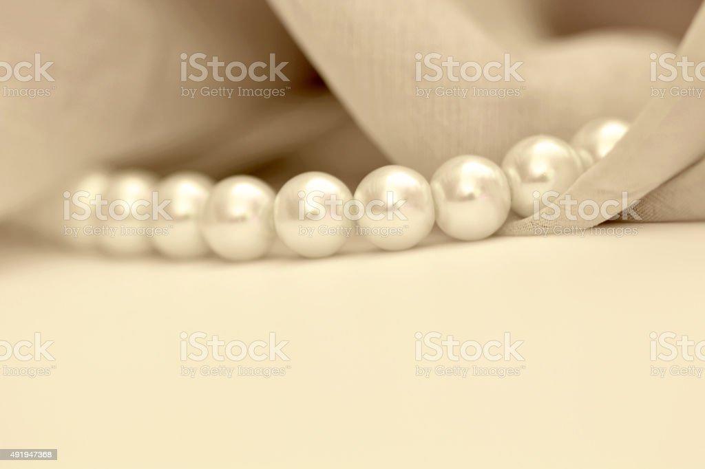 Ivory pearls stock photo