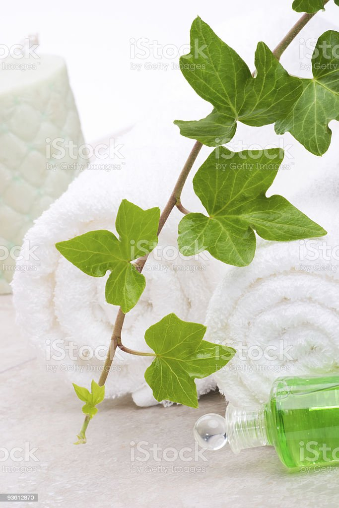 Ivy and towels royalty-free stock photo