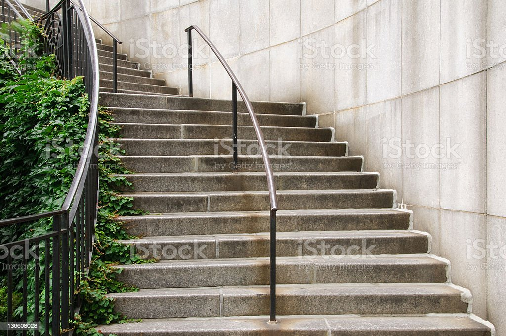 Ivy on curving stairs royalty-free stock photo
