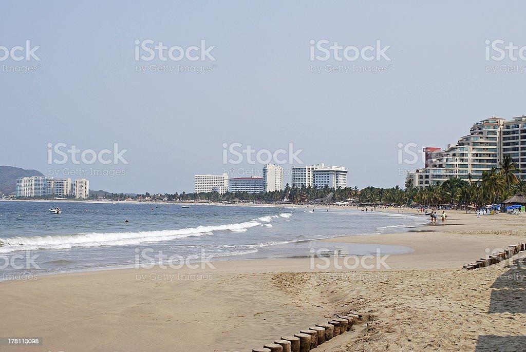 Ixtapa, Mexican beach scenery stock photo