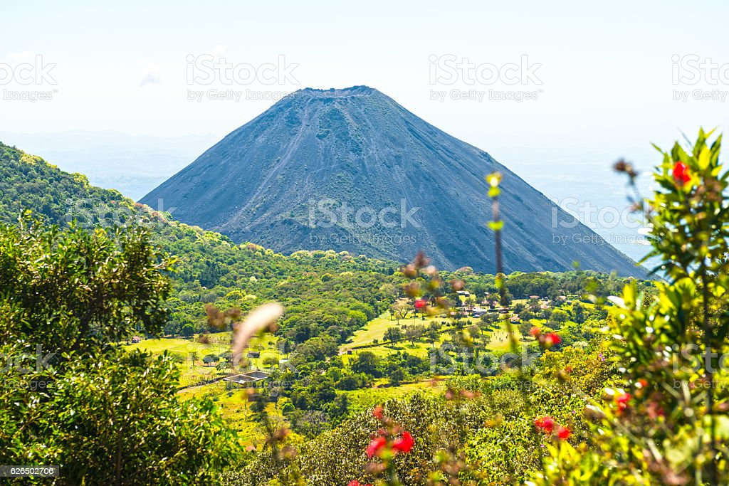 Izalco Volcano Cerro Verde National Park El Salvador stock photo