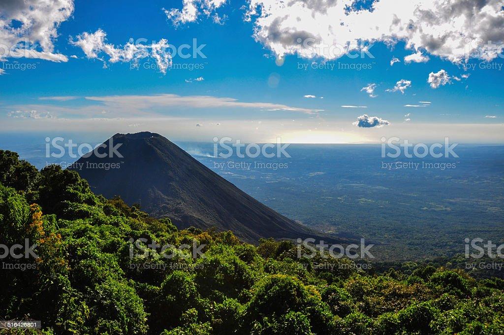 Izalco Volcano from Cerro Verde National Park, El Salvador stock photo