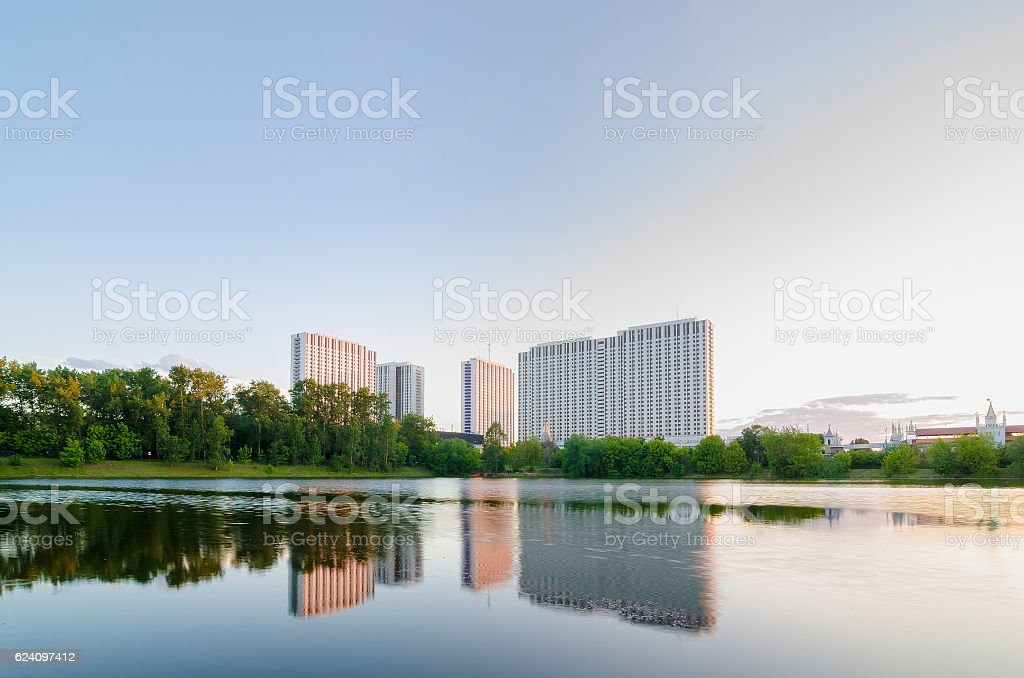 Izmailovo Hotel in Moscow, Russia stock photo