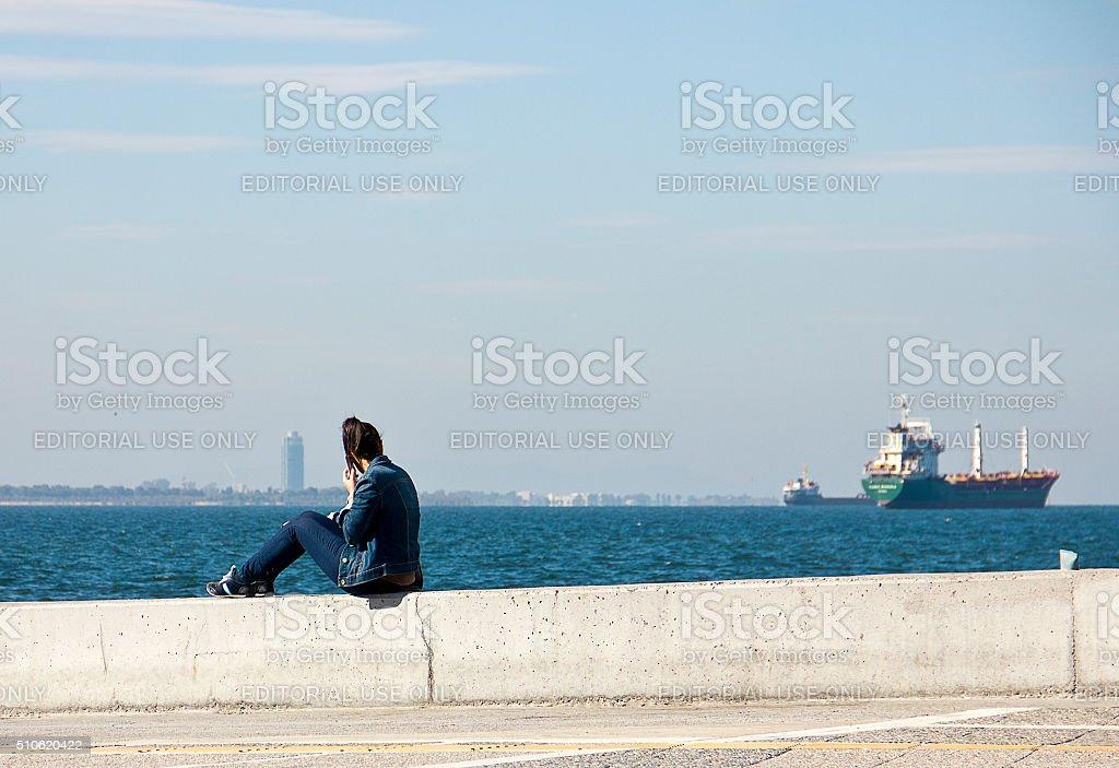 Izmir Aegean City stock photo