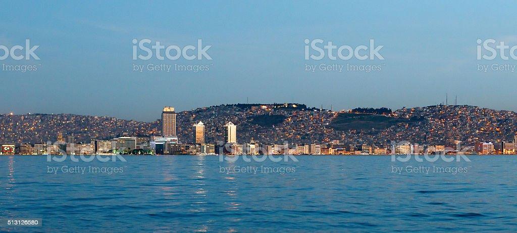 Izmir and Seascape stock photo