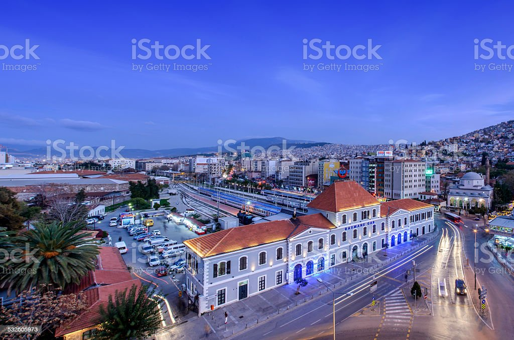 izmir basmane railway station stock photo