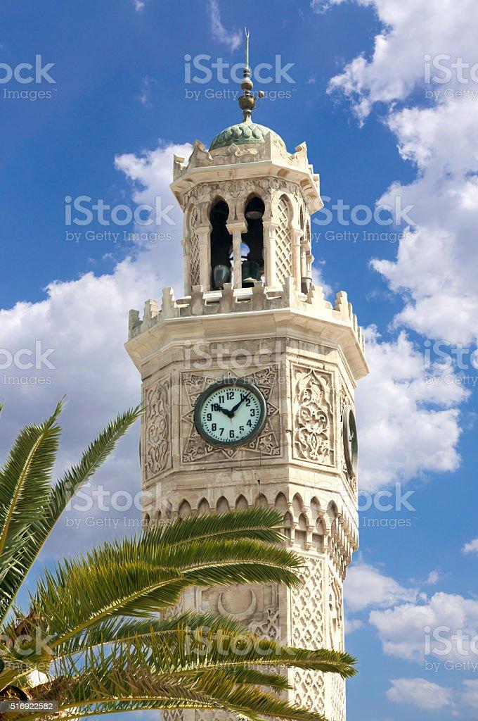 Izmir Clock Tower in Konak Square, Turkey stock photo