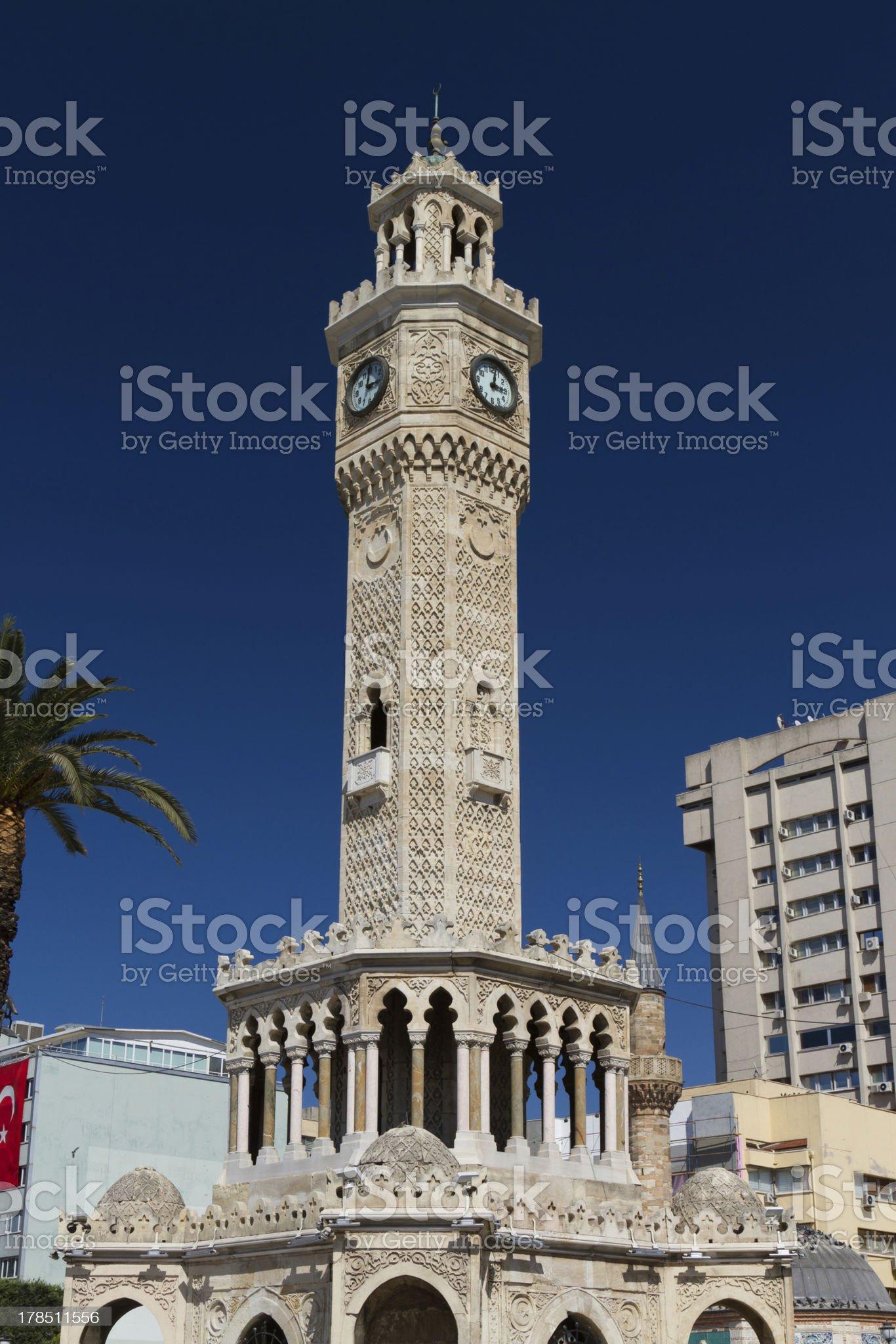 Izmir Clock Tower royalty-free stock photo