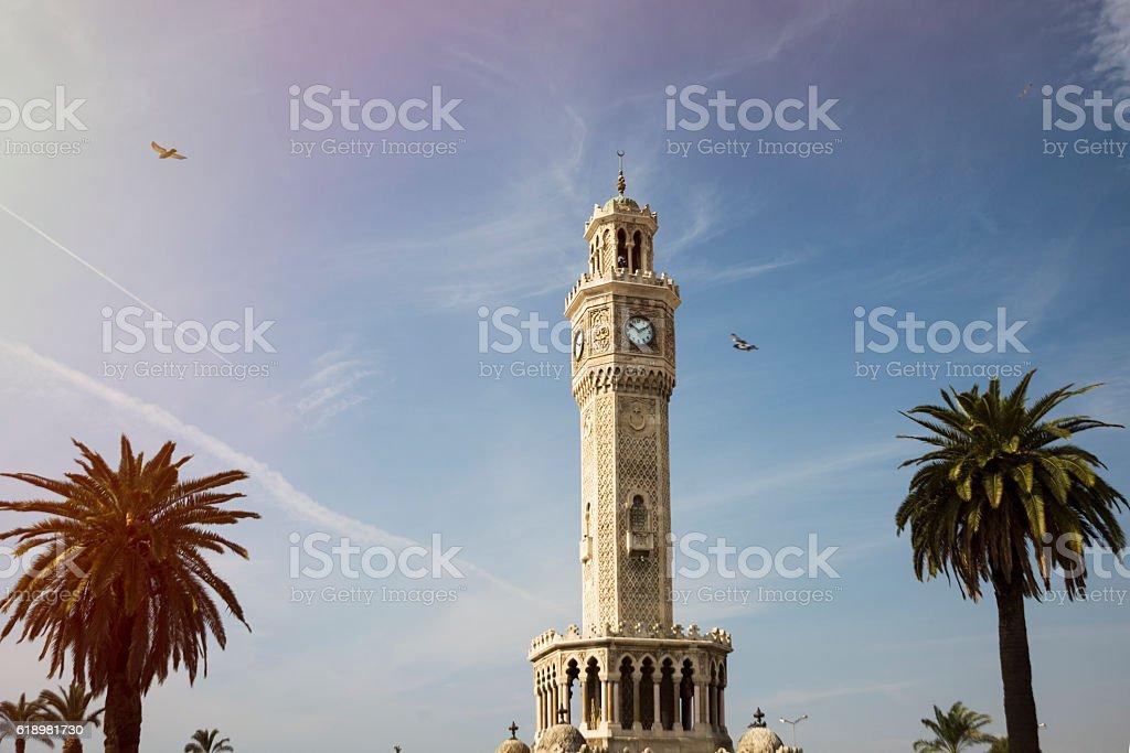 Izmir Clock tower stock photo