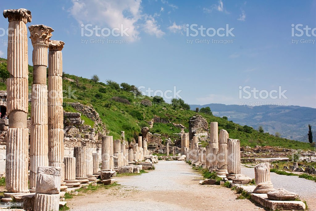 izmir ephesus antique theatre, tourism travel destination royalty-free stock photo