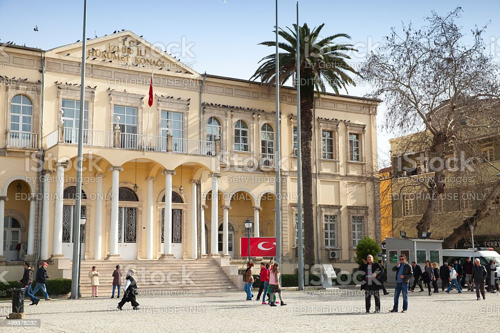 Izmir Goverment Office, Konak square, Turkey stock photo