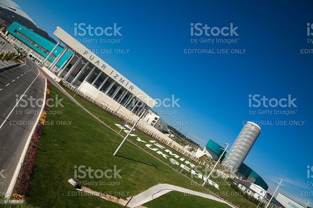 Izmir International Fair new area and buildings stock photo