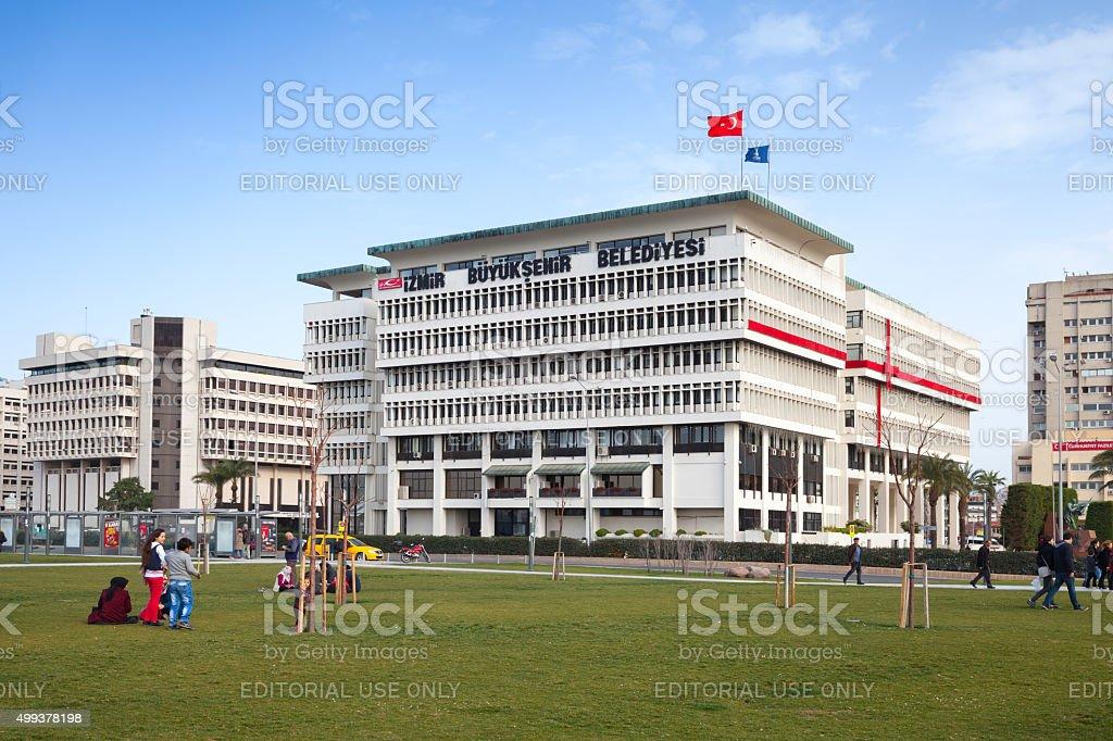 Izmir Metropolitan Municipality office building stock photo