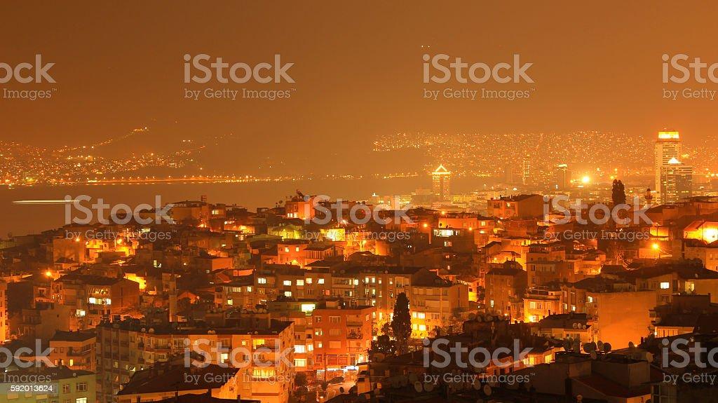 Izmir Night View Стоковые фото Стоковая фотография