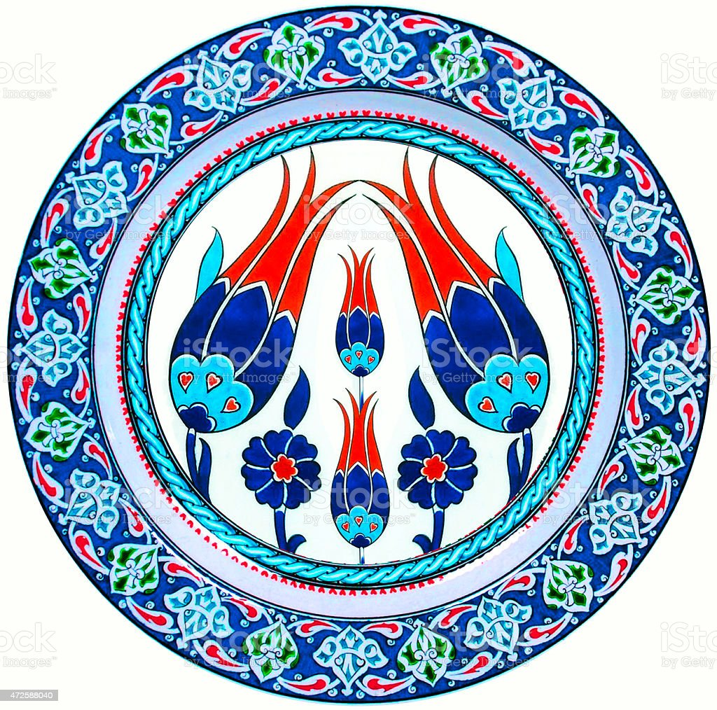 iznik ottoman turkish stock photo