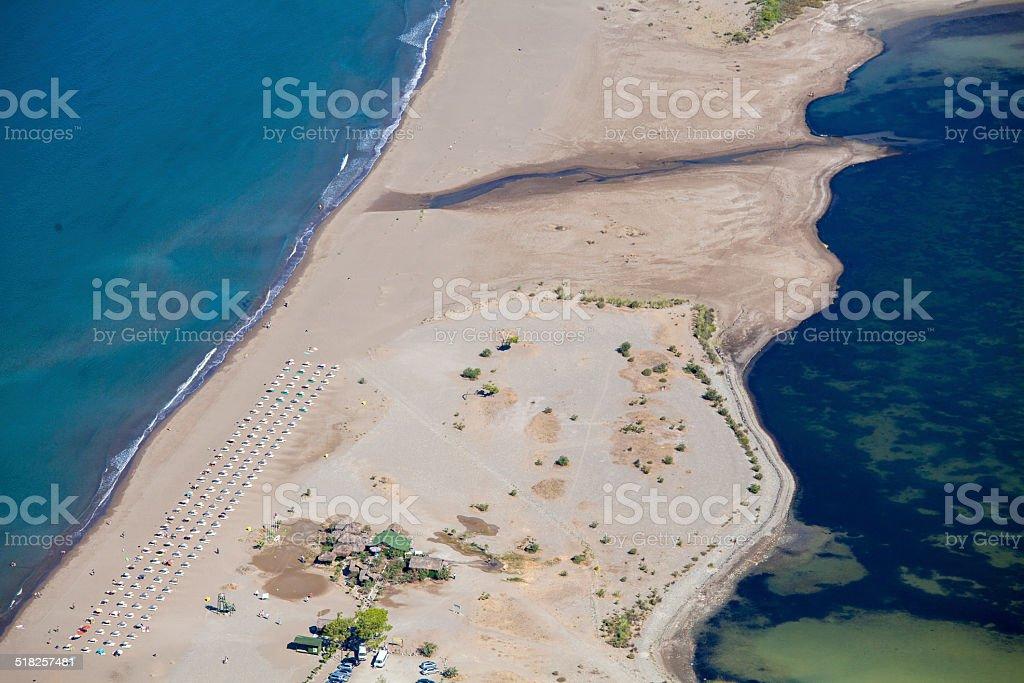 Iztuzu beach and the delta of Dalyan river, Dalyan, Mugla stock photo