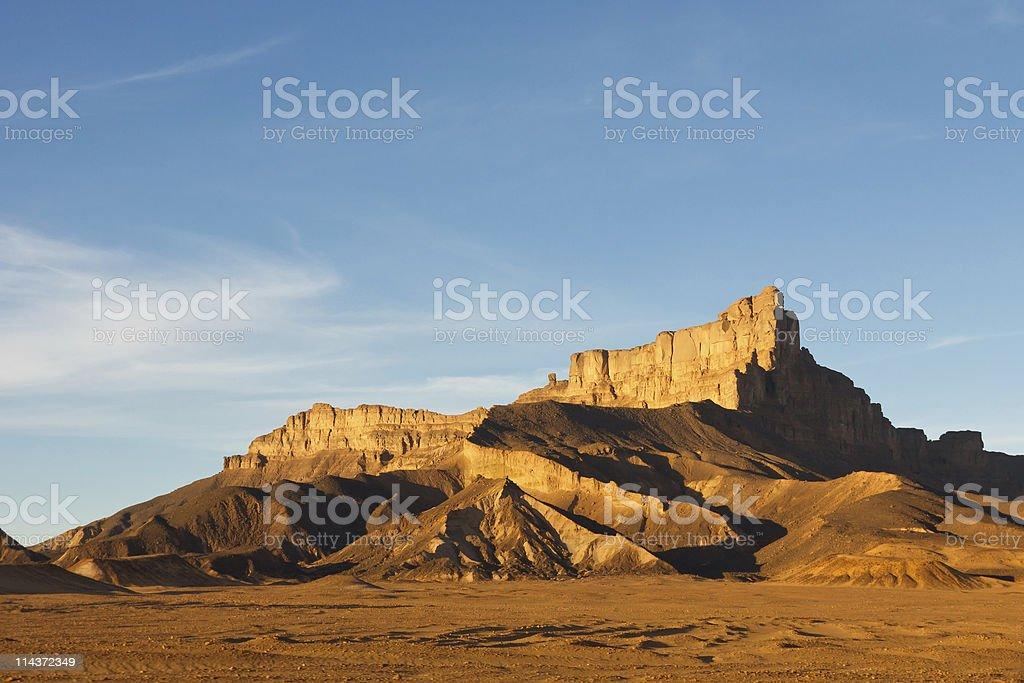 Jabal Idinin, Akakus (Acacus) Mountains, Sahara, Libya stock photo