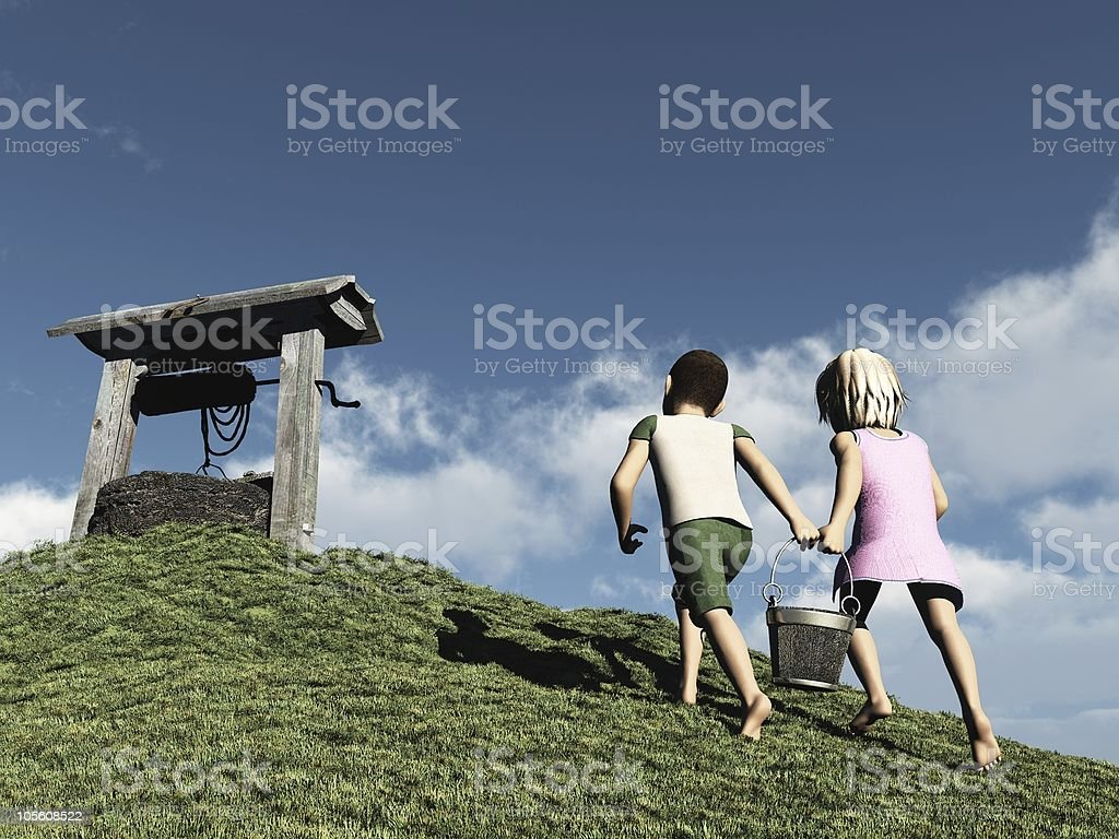 Jack and Jill stock photo