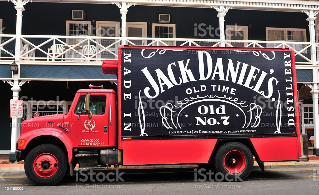 Jack Daniel's Delivery Truck royalty-free stock photo