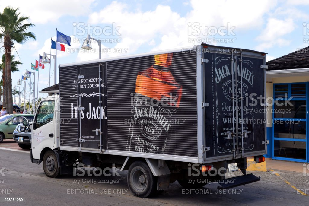 Jack Daniels delivery truck stock photo