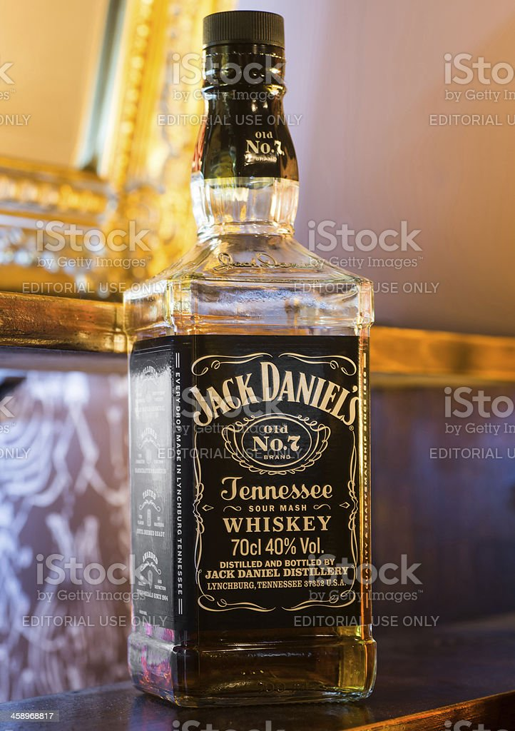 Jack Daniel's No.7 whiskey royalty-free stock photo
